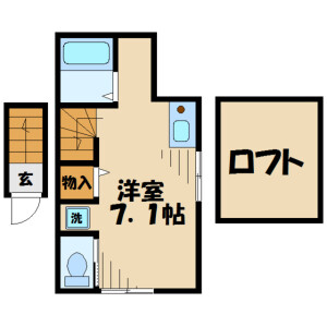 1R Apartment in Chuo - Sagamihara-shi Chuo-ku Floorplan