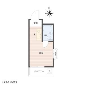 1R {building type} in Yayoicho - Nakano-ku Floorplan