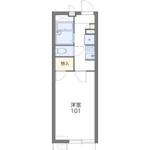大阪市西成区 山王 1K アパート 間取り