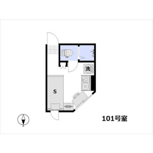 1R Mansion in Fukuzumi - Koto-ku Floorplan