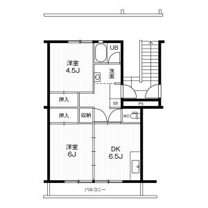 2DK Mansion in Inokuchi otsubocho - Inazawa-shi Floorplan