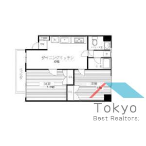 2DK Mansion in Nishiwaseda(2-chome1-ban1-23-go.2-ban) - Shinjuku-ku Floorplan