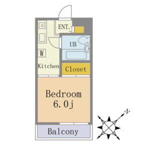 1K Apartment in Nishifuna - Funabashi-shi Floorplan
