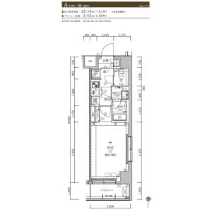 1K {building type} in Higashikomagata - Sumida-ku Floorplan