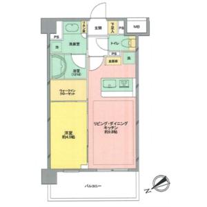 1LDK {building type} in Kitamachi - Nerima-ku Floorplan