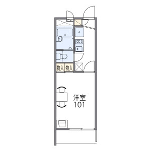 1K Mansion in Mizudocho - Amagasaki-shi Floorplan
