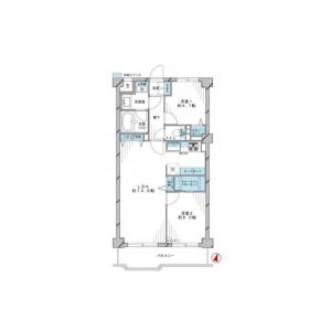 2LDK {building type} in Yoyogi - Shibuya-ku Floorplan