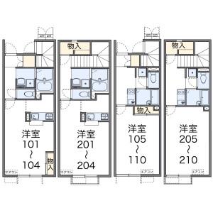 1K Apartment in Takimamuro - Konosu-shi Floorplan