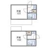 在中野区内租赁1K 公寓大厦 的 楼层布局