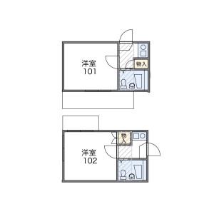 中野区中野-1K公寓大厦 楼层布局