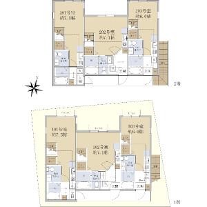 Whole Building {building type} in Teraya - Yokohama-shi Tsurumi-ku Floorplan