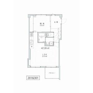 1LDK Mansion in Otsuka - Bunkyo-ku Floorplan