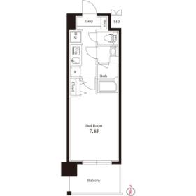 1K Mansion in Shinohashi - Koto-ku Floorplan