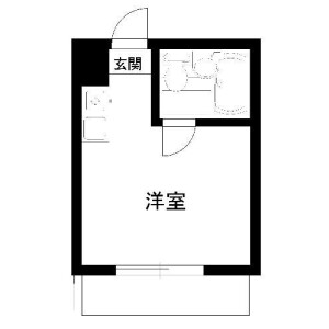 中野区中央-1R公寓大厦 楼层布局