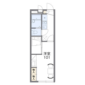 1K Apartment in Matsudoshinden - Matsudo-shi Floorplan