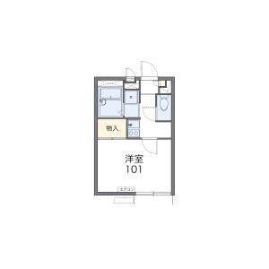 1K Apartment in Kaminakazato - Kita-ku Floorplan