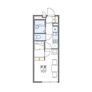 1K Mansion in Akebonocho - Tachikawa-shi Floorplan