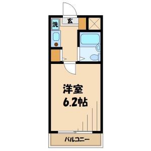 1K Mansion in Tamagawa - Chofu-shi Floorplan