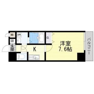 1K Mansion in Sonezakishinchi - Osaka-shi Kita-ku Floorplan