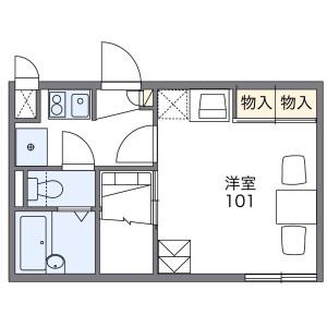 1K Apartment in Kitatanabe - Osaka-shi Higashisumiyoshi-ku Floorplan