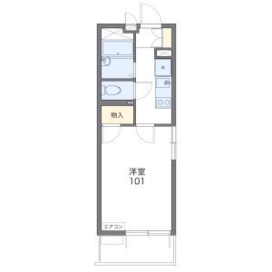1K Mansion in Yorozucho - Hachioji-shi Floorplan