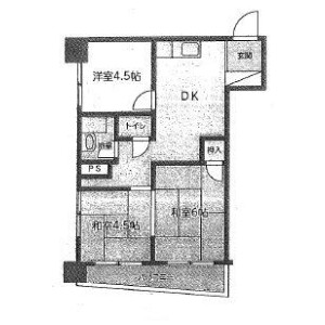 2LDK Mansion in Negishi - Taito-ku Floorplan