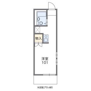 鶴ヶ島市鶴ヶ丘-1K公寓 房間格局