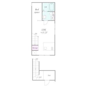 1LDK Apartment in Sugamo - Toshima-ku Floorplan