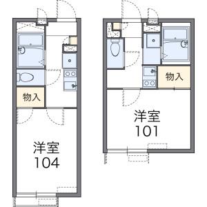 相模原市中央区星が丘-1K公寓 楼层布局