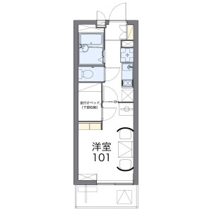 1K Mansion in Mori - Yokohama-shi Isogo-ku Floorplan