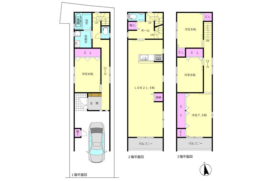 4LDK House to Buy in Osaka-shi Nishinari-ku Interior