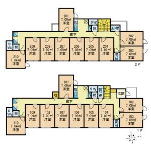 VivoIKEBUKURO WESTⅡ - Guest House in Toshima-ku Floorplan