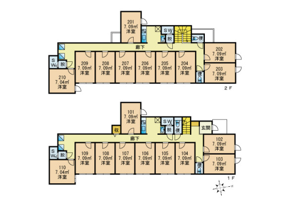 Shared Guesthouse to Rent in Toshima-ku Floorplan