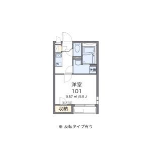 1K Apartment in Shibokuchi - Kawasaki-shi Takatsu-ku Floorplan