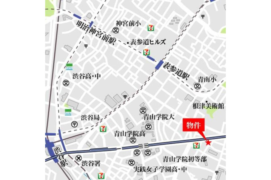 1R Apartment to Rent in Minato-ku Map