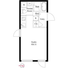 1R Mansion in Yayoicho - Nakano-ku Floorplan