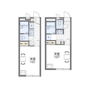 1K Apartment in Kiyomi - Fujimino-shi Floorplan