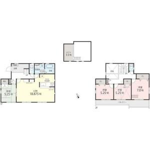 4LDK {building type} in Minamimaioka - Yokohama-shi Totsuka-ku Floorplan