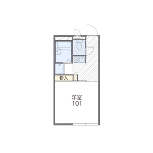 1K Apartment in Kumegawacho - Higashimurayama-shi Floorplan