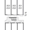 1K 아파트 to Rent in Higashimurayama-shi Floorplan