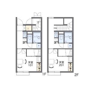 1K Apartment in Kozutsumi - Kawagoe-shi Floorplan