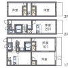 2DK Apartment to Rent in Yao-shi Floorplan
