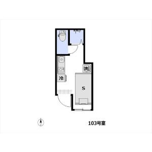 1R Apartment in Kotobuki - Taito-ku Floorplan