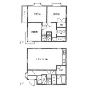 3LDK House in Miharucho - Yokosuka-shi Floorplan