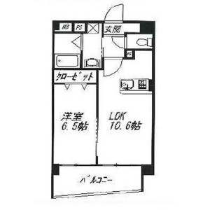 1LDK Mansion in Yoyogi - Shibuya-ku Floorplan