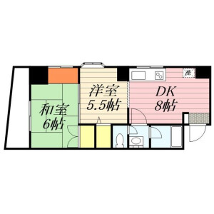 2DK Mansion in Misuji - Taito-ku Floorplan