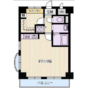1R {building type} in Niitaka - Osaka-shi Yodogawa-ku Floorplan