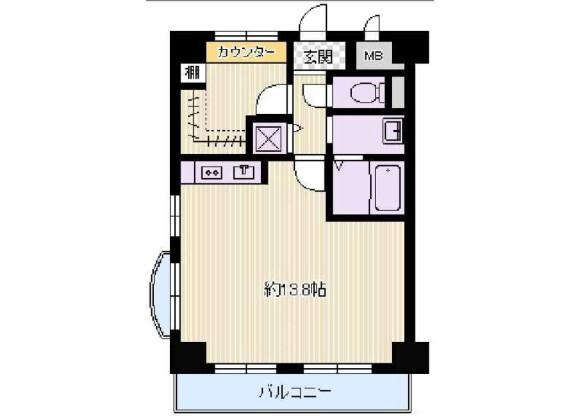 1R Apartment to Buy in Osaka-shi Yodogawa-ku Floorplan
