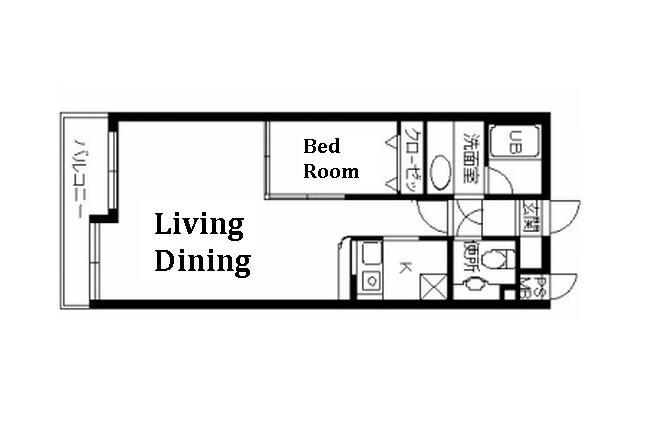 1LDK Apartment to Rent in Suginami-ku Floorplan