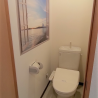 1DK Serviced Apartment to Rent in Yokosuka-shi Toilet